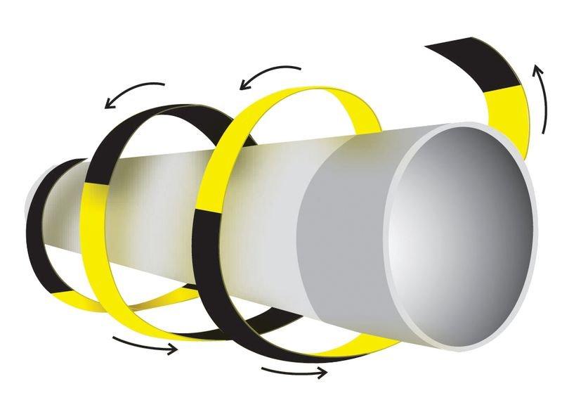 Ronde stootrand voor buizen en kabels van polyethyleenschuim - Seton