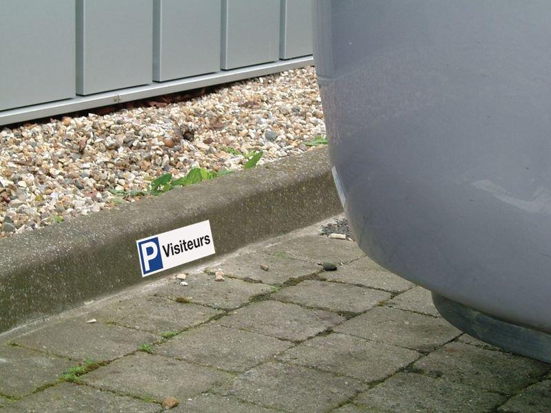 Personaliseerbare, rechthoekige parkeerborden - Seton