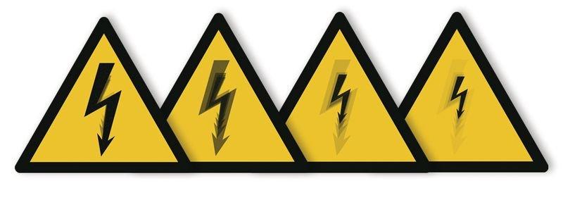 Harde stickers met animatie SETON MOTION® Gevaarlijke elektrische spanning