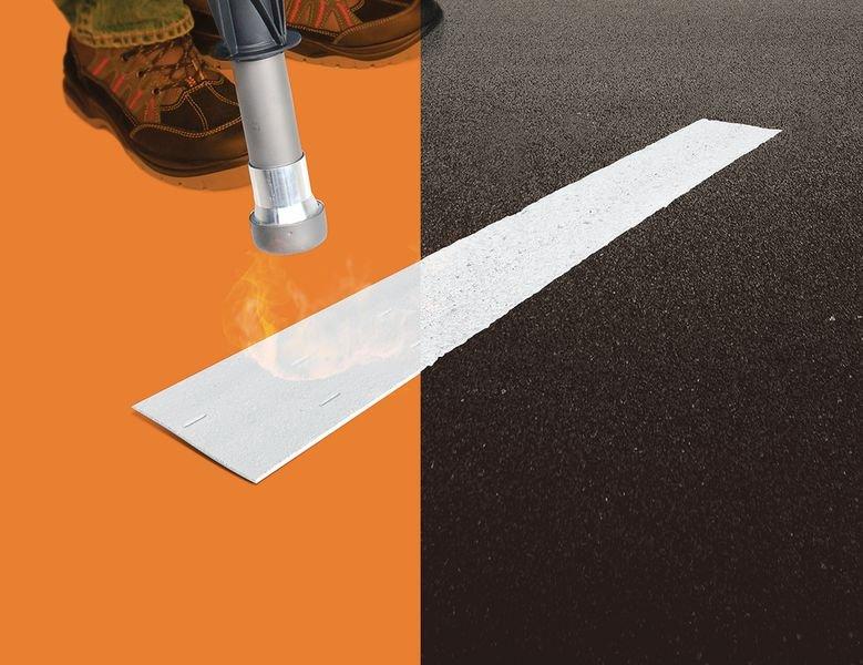 Brander voor thermoplastische markeringen - Thermoplastische markering