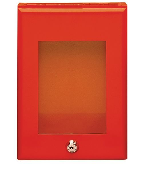 Rode sleutelkast voor noodsleutel