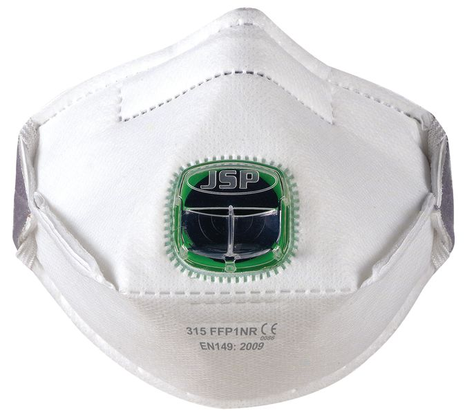 FFP1-stofmasker JSP® Typhoon™, opvouwbaar en met ventiel