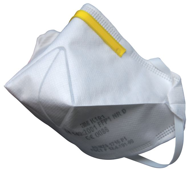 Wegwerp FFP1-stofmasker 3M™ K100, opvouwbaar en voordelig