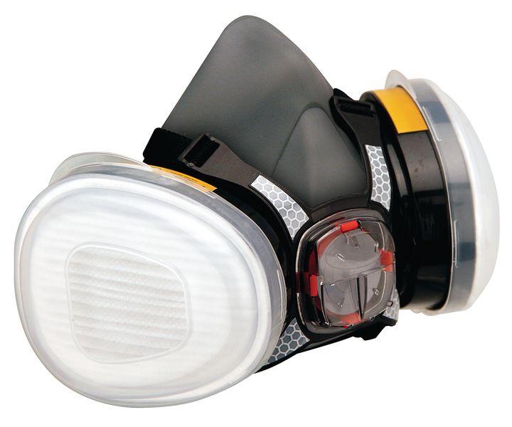 Halfgelaatsmasker met standaard, dubbele filter