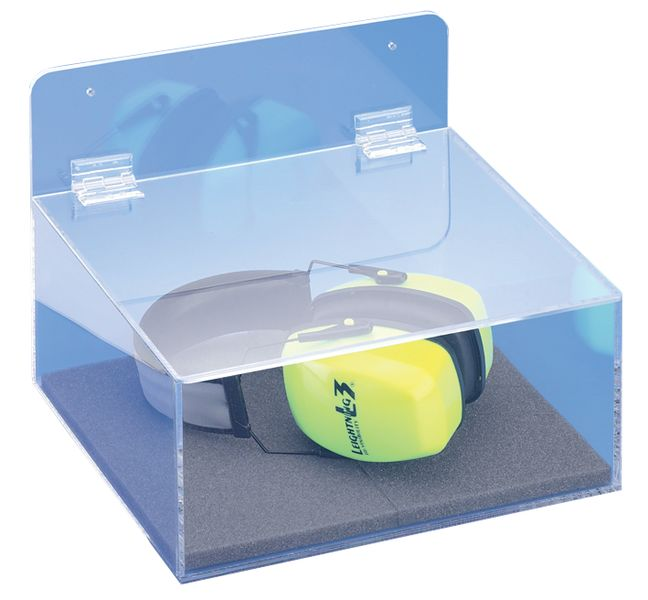 Transparante opbergdoos voor oordopjes en oorkappen