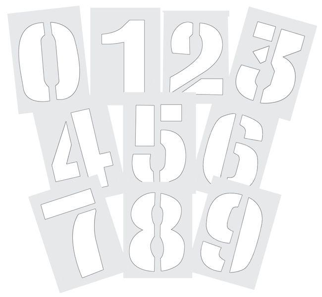 PVC sjablonen met cijfers en letters