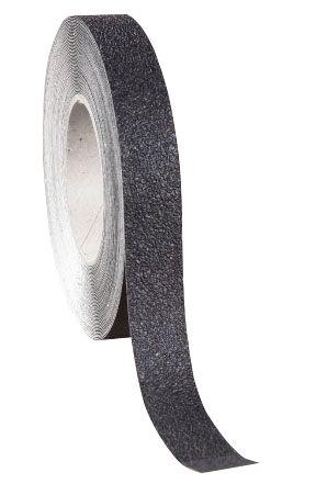 Zwarte, zelfklevende en afwasbare antislipstroken SetonWalk™