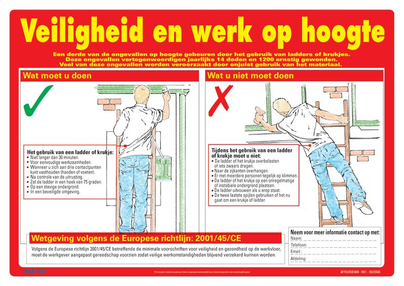 Veiligheidsposters - Veiligheid en werk op hoogte