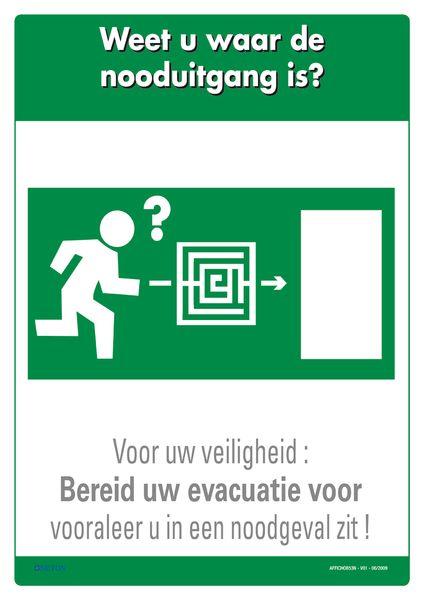Brandveiligheidsposters - Weet u waar de nooduitgang is?