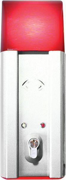 Draadloos, infrarood deuralarm met alarmlicht en sirene