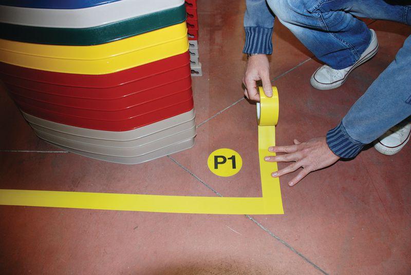 Gekleurde vloertape van vinyl op rol seton nl