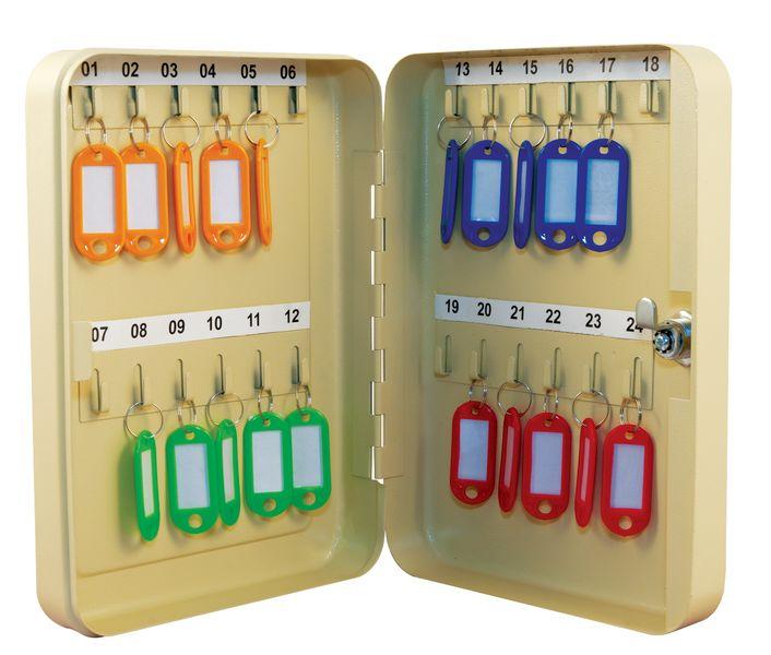 Voordelige, gekleurde sleutelkast met cilinderslot