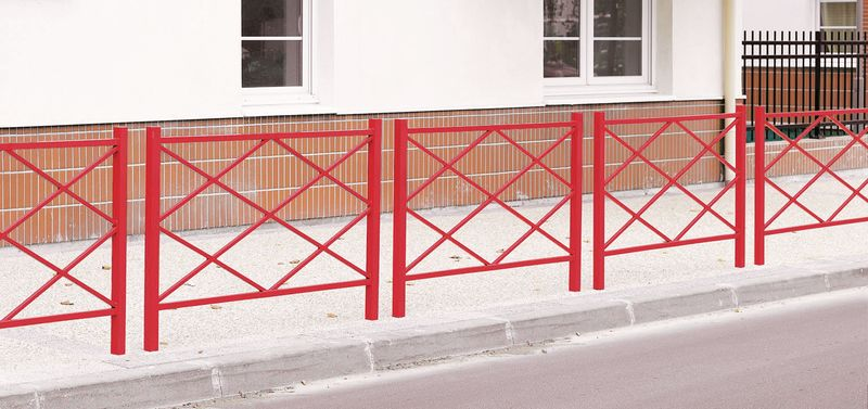 Ruitvormige, stalen hekken voor stadsgebruik