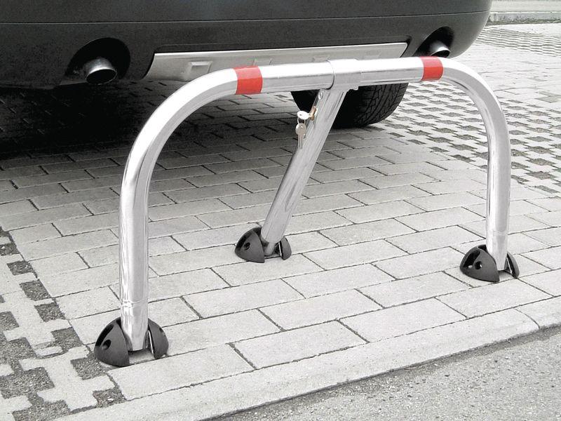 Parkeerbeugel met versterkte bevestigingsplaatjes