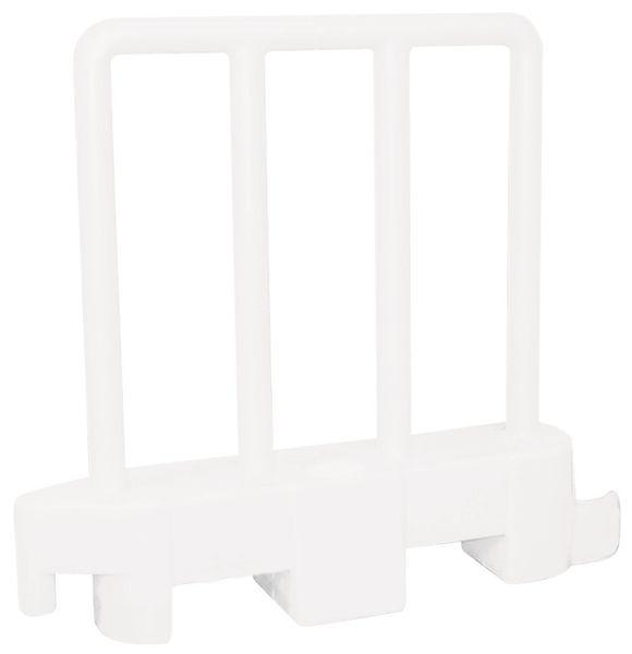 Verzwaarbaar, flexibel beschermhek van polyethyleen