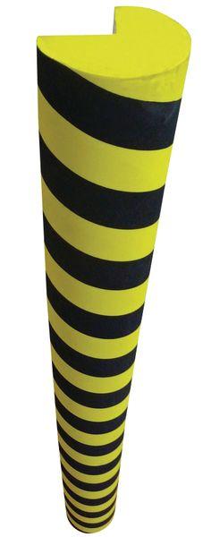 Zwart en gele stootranden van thermoplastisch schuim met hoge dichtheid