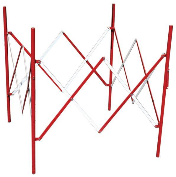 Vierkant stalen schaarhek