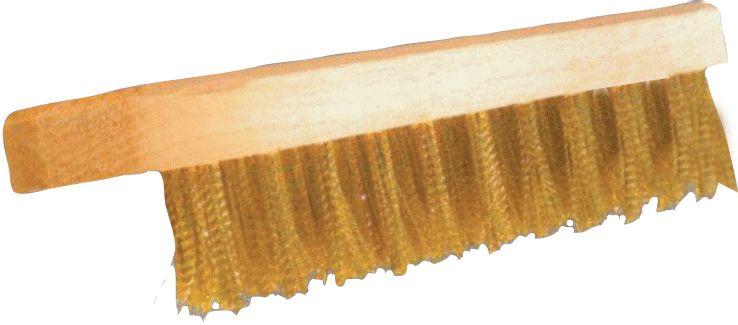 Beitsborstel met houten steel