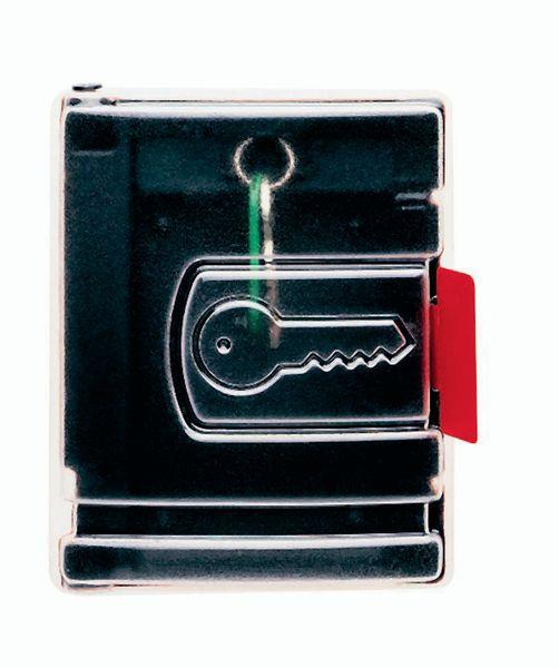 Zwart kastje voor noodsleutel met transparante deur
