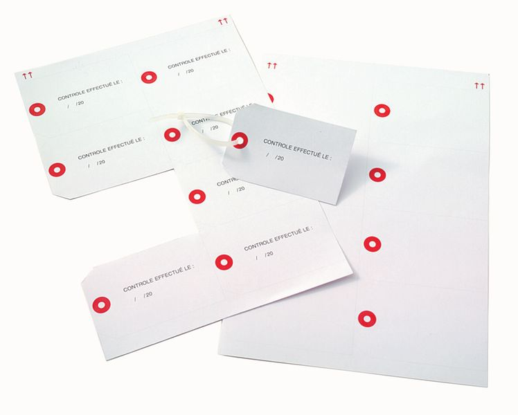 Bedrukbare hanglabels van karton voor laserprinter