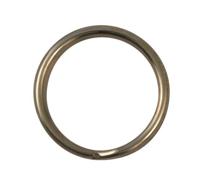 Zilveren splitringen van vernikkeld staal