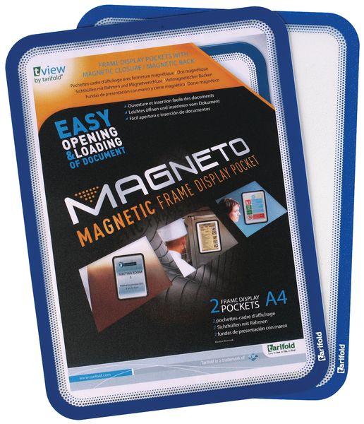 Zelfklevende en magnetische affichehouders van PVC