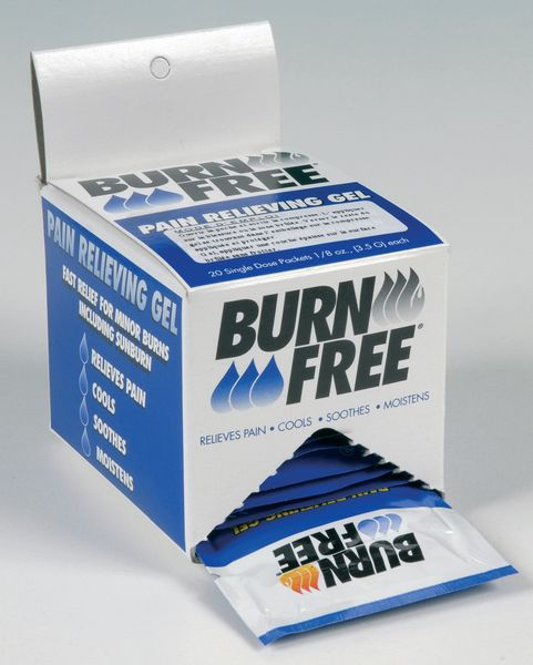 Steriele brandwondenkompressen in individuele verpakkingen