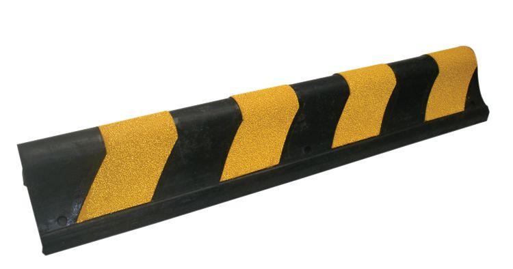 Zichtbare rubberen stootrand voor hoek