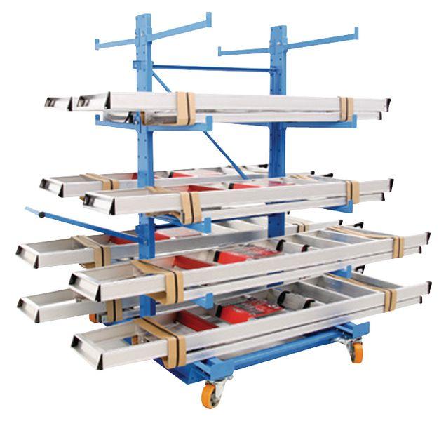 Dubbelzijdige magazijnwagen met 5 niveaus