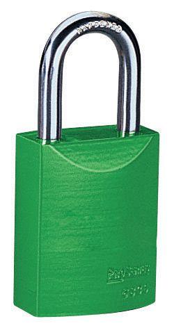Felgekleurd hangslot voor lockout, met 1 sleutel