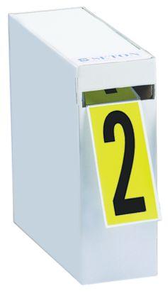 Stickers met cijfers of letters in verdeeldoos