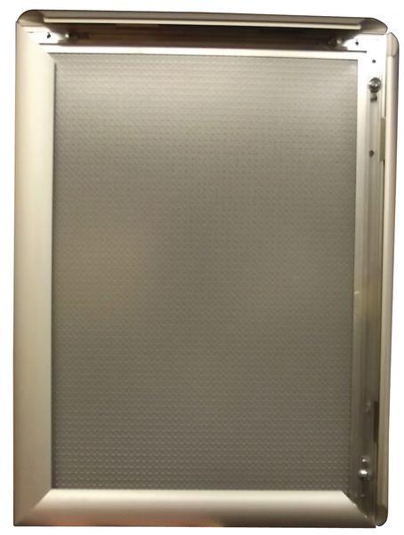 Affichehouders met aluminium klikkader