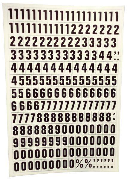 Set van magneten met letters, cijfers en tekens
