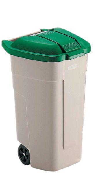 Afvalcontainer met een gekleurd, verwijderbaar deksel