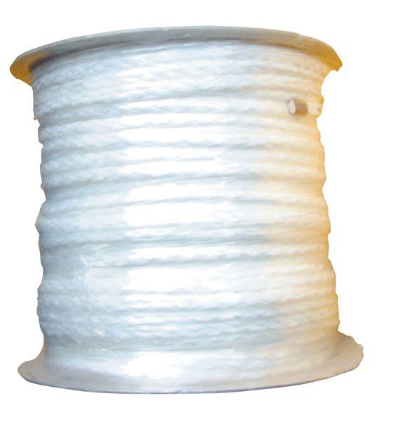 Witte reddingslijn van polypropyleen op rol