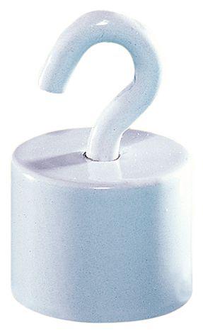 Witte, magnetische haken met uitdraaibare haken