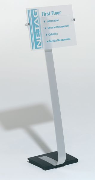 Informatiebord van hard acryl, op voet