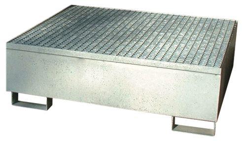 Lekbak van staal voor cubitainer