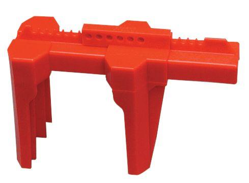 Vergrendelingssysteem met klem voor lockout kogelkranen