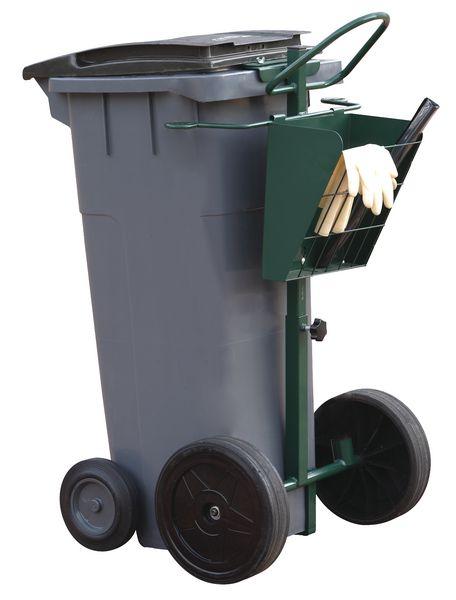 Steekwagen voor plastic afvalcontainer