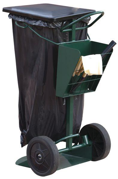 Steekwagen voor vuilniszakhouder
