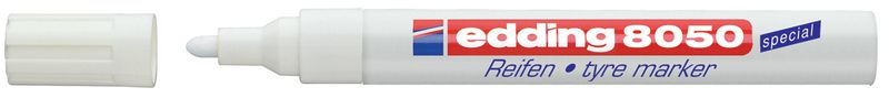 Permanent marker Edding 8050 voor rubber - 2 mm