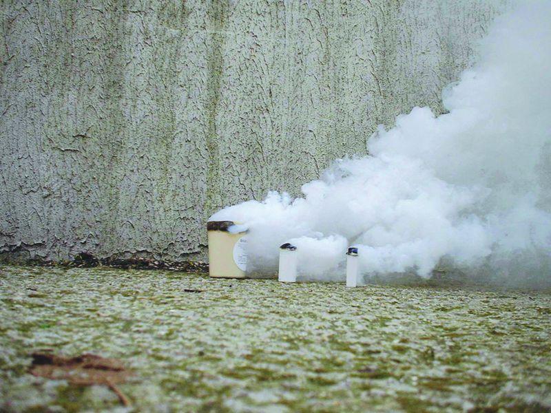 Rookpatronen met gekleurde rook