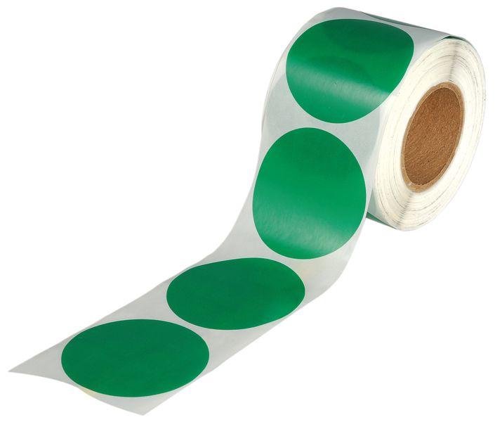 Gekleurde, ronde stickers van transparant polyester