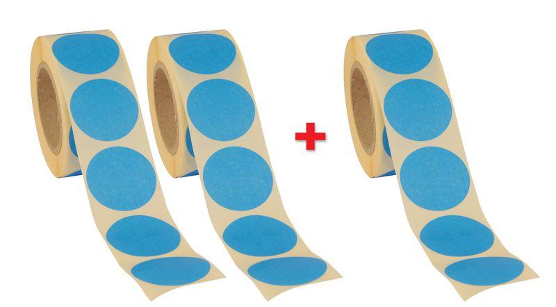 Promopack 2 + 1 rollen met ronde stickers
