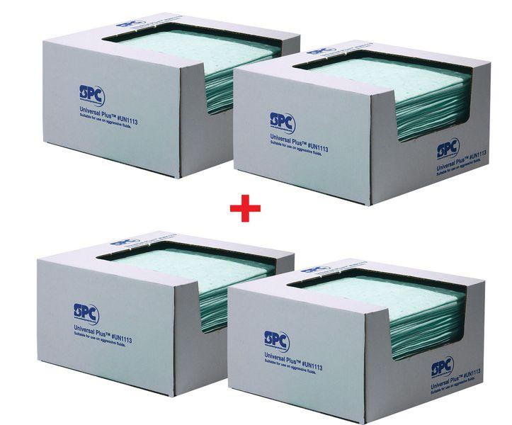 Set van 4 dozen met absorptiedoeken voor chemicaliën