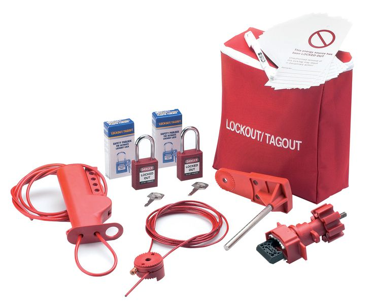 Lockout kit met opbergtas