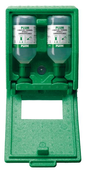 Oogspoelstation: wandbox + 2 x 500 ml zoutoplossing