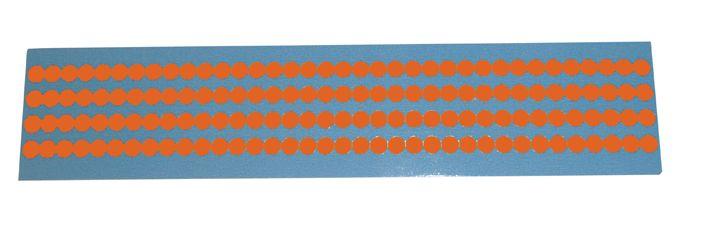 Gekleurde, ronde mini-stickers van vinyl
