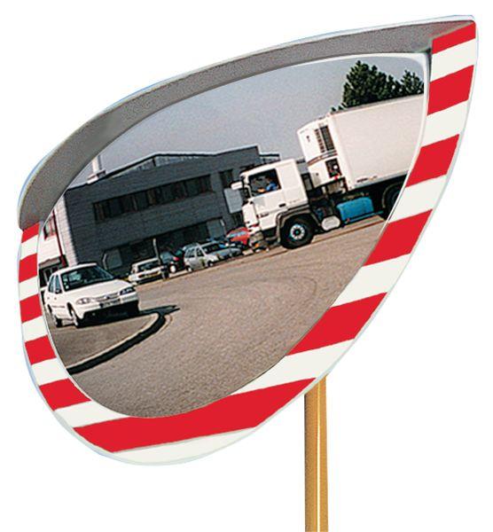 Onbreekbare verkeerspiegel, 1/2 bol, 180° zicht